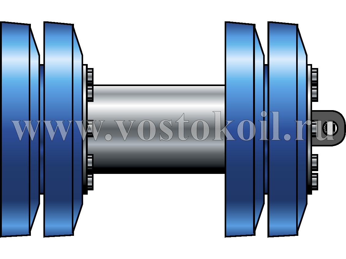 "Очистное устройство ""ВОСТОК-М4"" для трубопроводов диаметром 325-1420 мм. Предусмотрено место для установки трансмиттера."